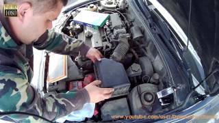 Замена воздушного фильтра двигателя Hyundai Accent