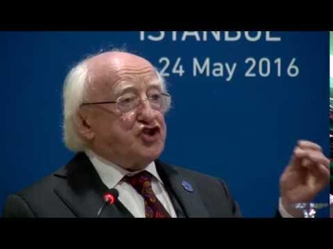 """President Michael D. Higgins speaks on """"Zero Hunger by 2030"""""""