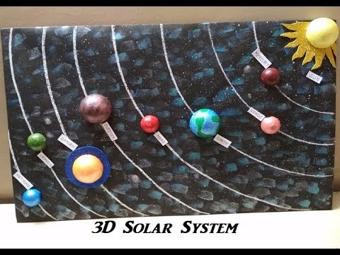 How to make 3D Solar System Model | 3D Model | Project for students