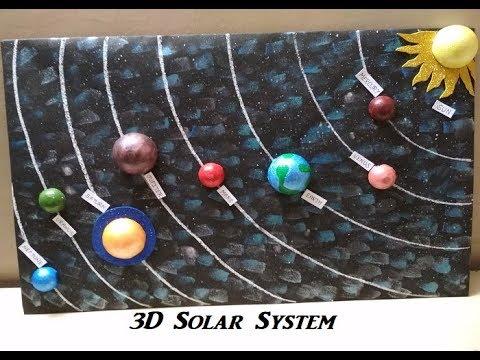 How to make 3D Solar System Project Sistema solar g Doovi