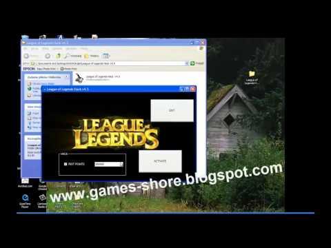 League Of Legends Hack V4.5 Cheats Riot Points Download 2013