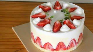 부드럽고 상큼한 딸기 프레지에 케이크 만들기