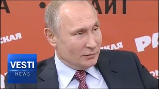 Putin Laughs Off NATO's Efforts to Interfere in Russian Elections, Prop Up Their Candidate