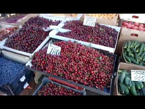 Поход на рынок за ягодами. Цены 2018 на овощи, фрукты 🍒🍓😥. Обзор продуктов на рынке.
