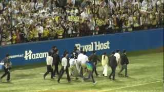 金本選手、関東ラスト試合で逆転負けの阪神和田監督のビジタークラブハ...
