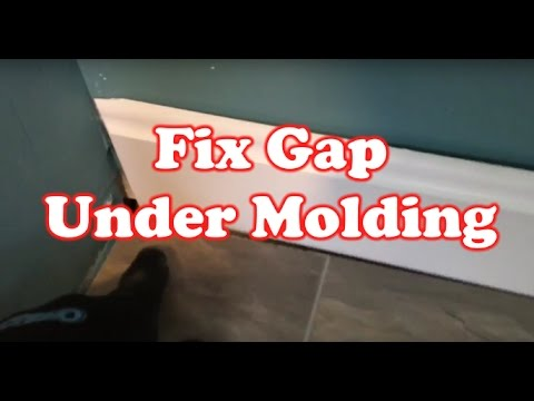 How To Fix Gap Under A Floor Molding Quick Fix Youtube