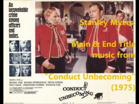 Stanley Myers: Conduct Unbecoming (1975)