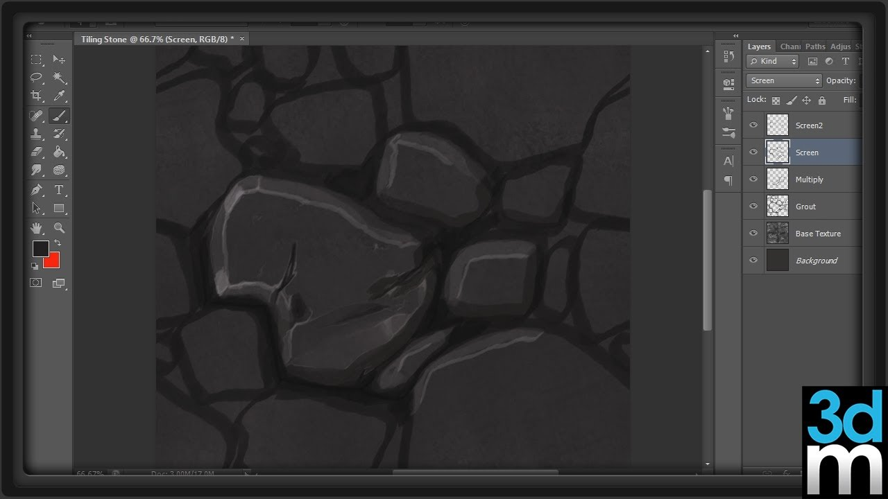 Creating Tileable Textures in Photoshop 3dmotive YouTube