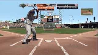 MLB 2K11 Demo Gameplay (PS3) - San Francisco Giants vs Texas Rangers