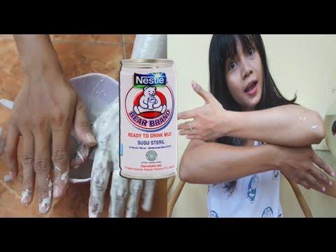 tips memutihkan kulit menggunakan susu beruang