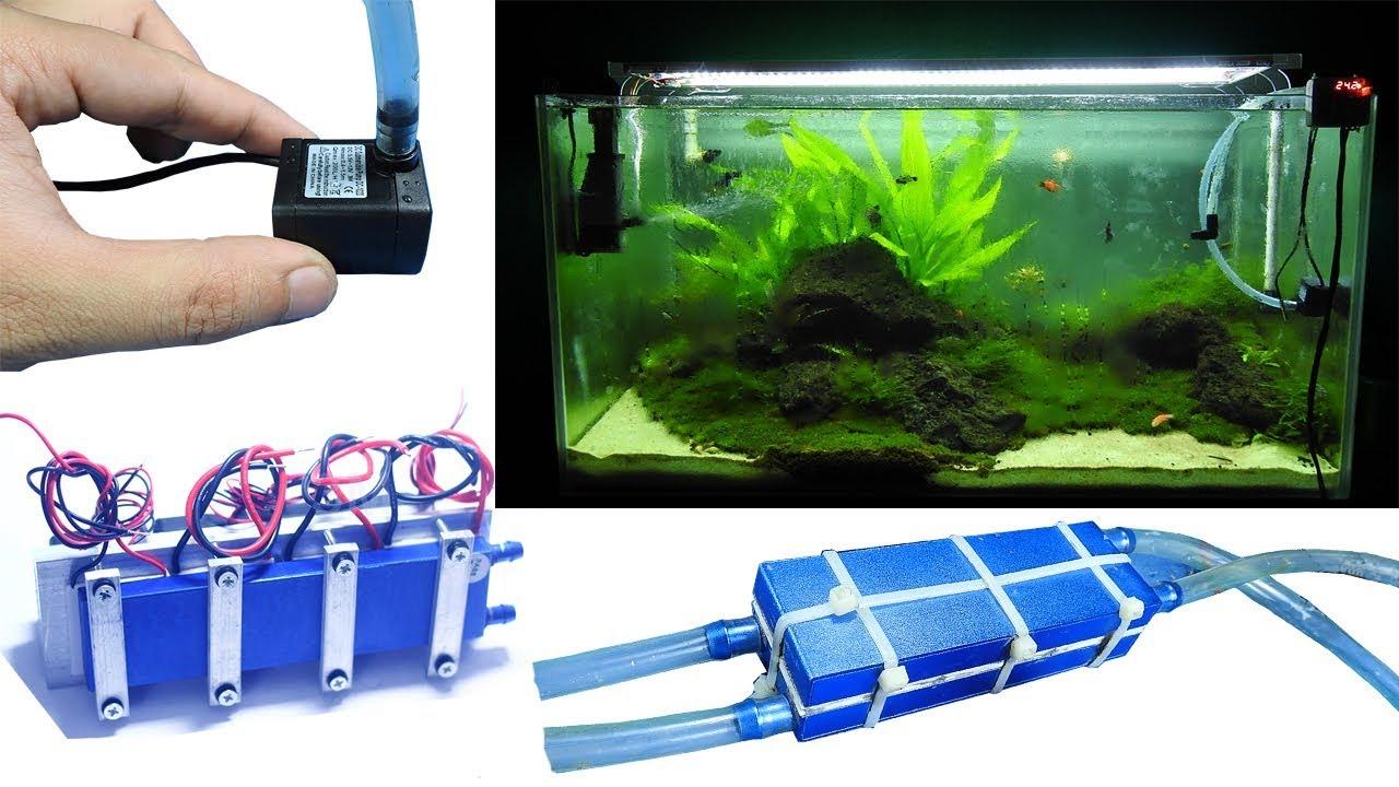 Aquarium model 8 - Make Aquarium Chiller cool for 100 liter fish tank - [Piece of Paper]