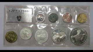 Coin Set 1967 Proof Austria SCARCE Kursmünzensatz 1967 Österreich Schilling KMS