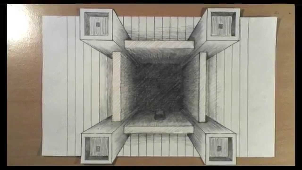 How To Draw One Point Perspective Castle Fortress 3d