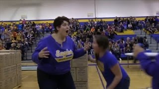 Mom Freaks Out After Sinking Half-Court Shot with Eyes Closed