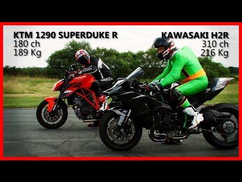 KAWASAKI H2R vs KTM SUPERDUKE R 1290