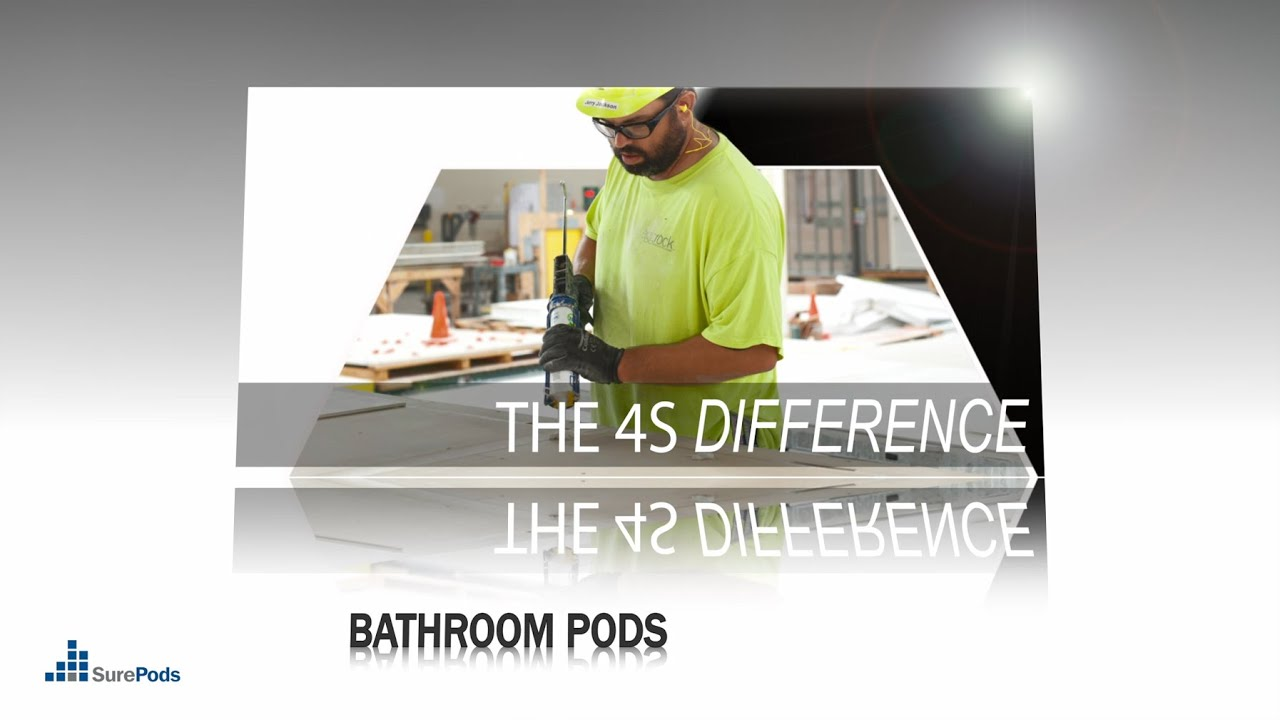 Bathroom Pod Manufacturing Video – 4s Difference