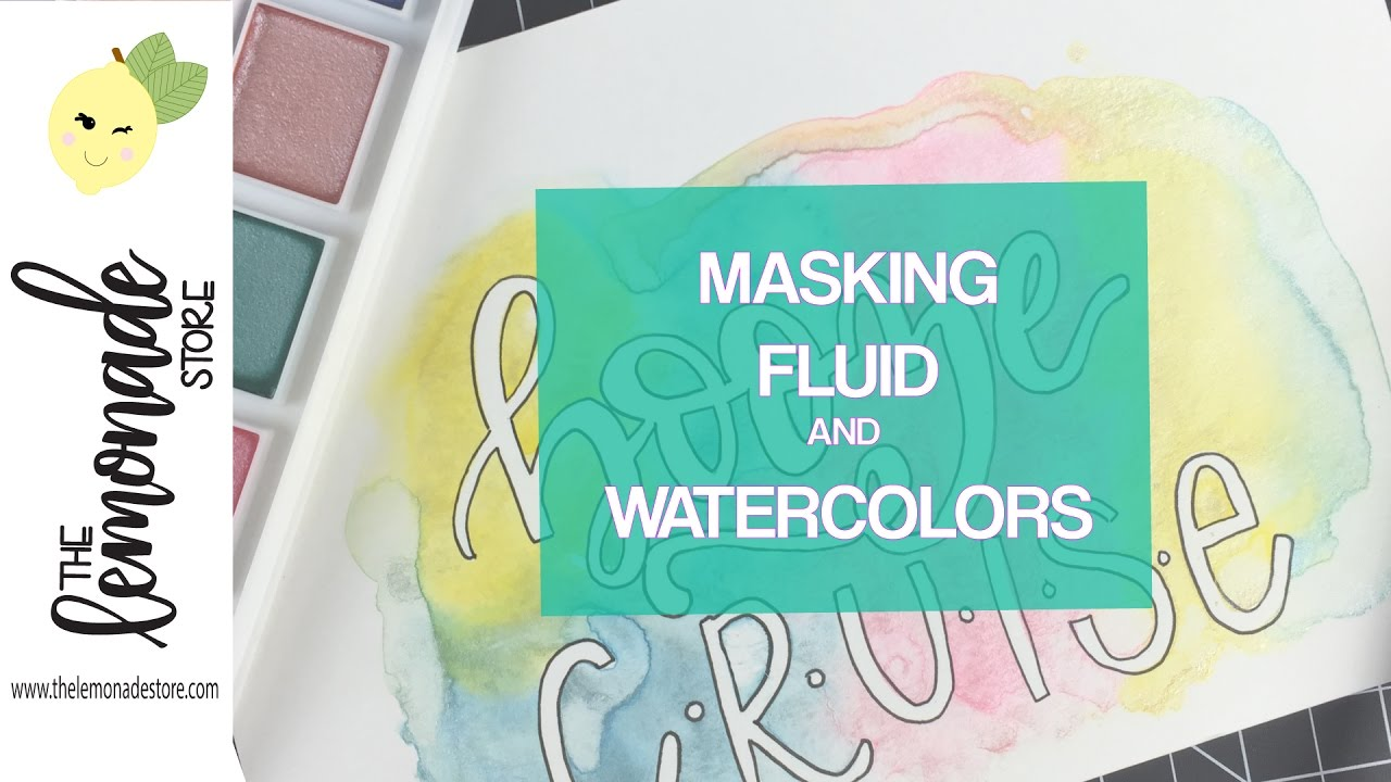 Hand Lettering With Masking Fluid And Watercolor