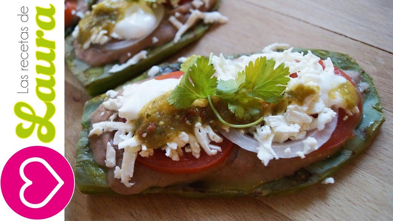 Huaraches de nopal botanas para el super bowl recetas con - Comidas ricas sanas y faciles ...