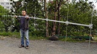 Строим антенну Уда Яги 13 эл. 8 мм Yagi Antenna часть 1 RA0LKG