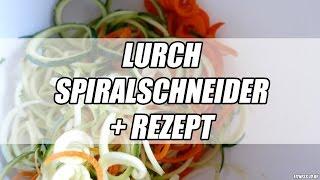 Zucchini Spaghetti Rezept | Gemüse Nudeln | Lurch Spiralschneider | FITNESS-ID.DE