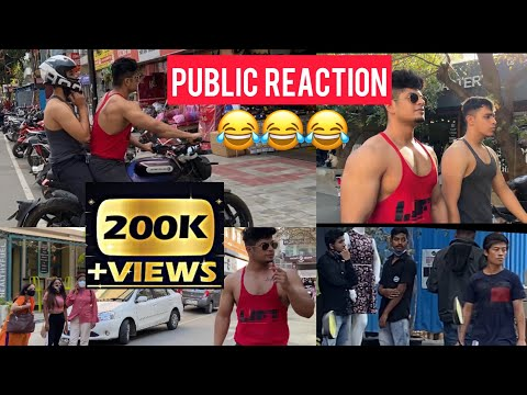 PEOPLE REACTION when FITNESS FREAKS WALK in STREETS of BANGALORE INDIA