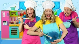 Cooking in the Kitchen Kids Song Pretend Play Cooking with Fun Food for Kids
