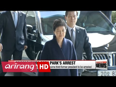 Prosecutors request arrest warrant for Park Geun-hye