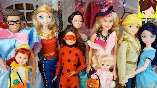 fiesta de halloween en casa de barbie y ken con las bebes elsa ladybug spiderman y raquel