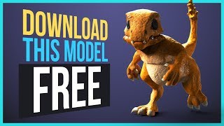 FREE 3D Character To Download - Charmander (3ds Max CAT)