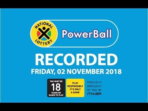 PowerBall Results - 02 November 2018