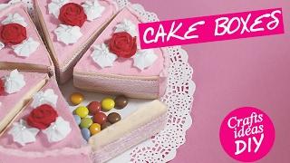KAWAII BOX - CANDY BOX FELT CAKE DIY easy crafts