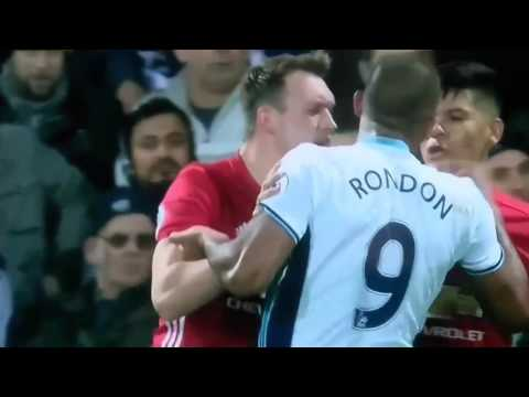 Marcos Rojo vs. Rondon Fight West Bromwich Albion vs. Manchester United
