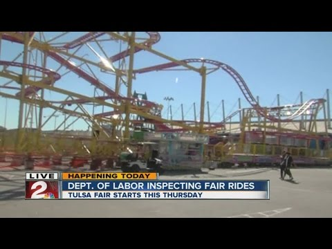 Inspection begins for Tulsa State Fair rides