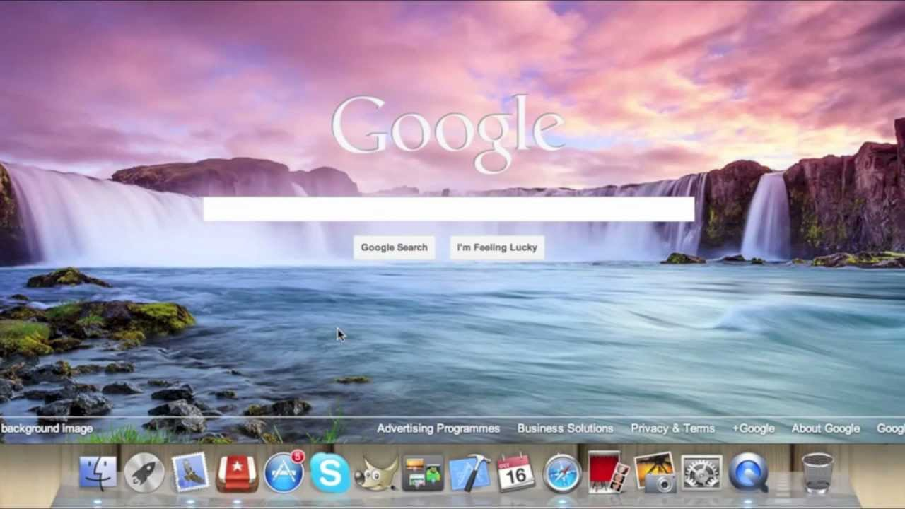 How to change your Google Search Background - YouTube