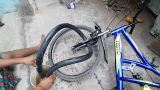 How To Check Cycle Tube Puncher//Full Video Cycle Tube Puncher Repair Tyre Puncher Atlas Hero At Hm💥