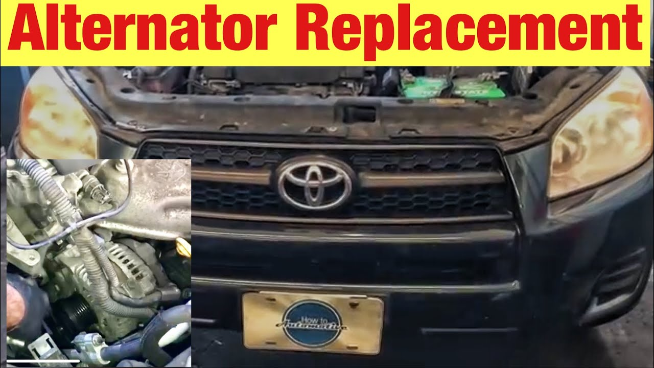how to replace the alternator on a 2005 2012 toyota rav4 with 2 4l engine [ 1280 x 720 Pixel ]