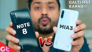 Redmi Note 8 vs Mi A3 Full Comparison | GALTI MAT KARNA | GT Hindi