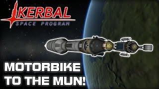 Motorbiking on the Mun! (Kerbal Space Program)