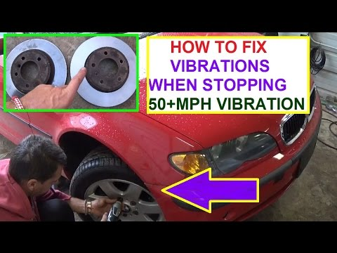Vibrations in the Steering Wheel when Stopping or hitting the Brake  HOW TO  FIX!