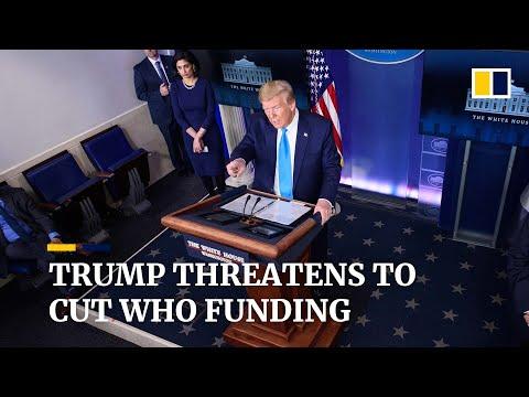 Trump Threatens To Cut US Funding Of World Health Organisation Amid Coronavirus Pandemic