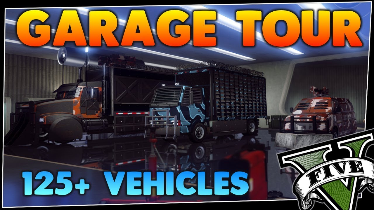 GTA 5 ONLINE GARAGE TOUR | ALL GARAGES | 125+ VEHICLES