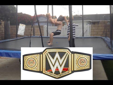 WWE - Royal Rumble - World Heavyweight Championship - Brock Lesnar vs  Batista (Trampoline)