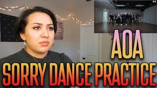 "AOA(에이오에이) - ""Sorry"" Dance Practice Reaction"