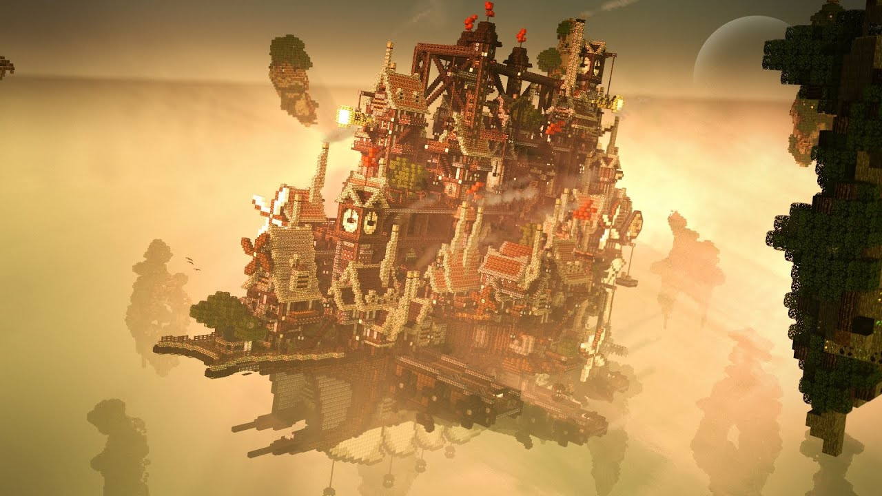 Cloud Haven ~ The Floating City - YouTube Floating City Steampunk