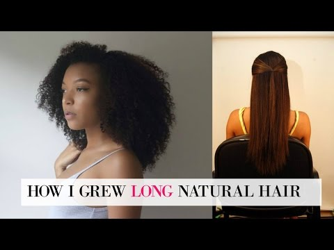How to Grow LONG Natural Hair (MY SECRETS!) + Tips for Going Natural