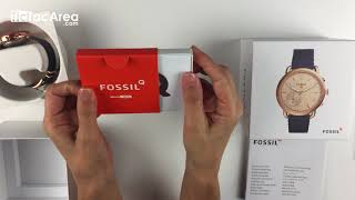 Unboxing FOSSIL Q Tailor FTW1128 Hybrid Smartwatch video
