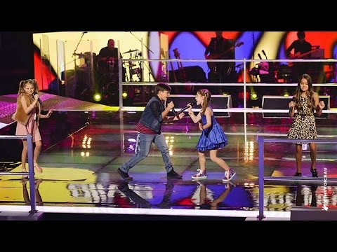 Olivia, Anthony & Tamara And Alexa Sing Stop | The Voice Kids Australia 2014