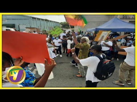 Anti-Vaccine Protests in Antigua   TVJ Smile Jamaica