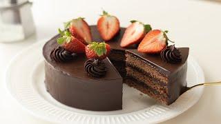ガナッシュケーキの作り方 Chocolate Ganache Cake|HidaMari Cooking