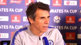 Gianfranco Zola Previews FA Cup Tie - Chelsea v Man Utd